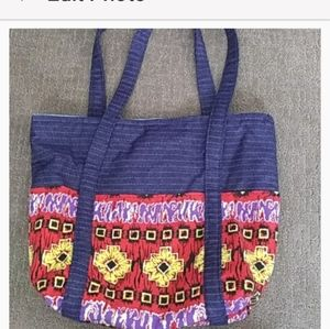Small Hand Crafted Blue Shopping Bag